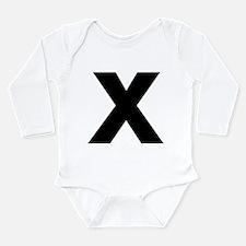 Letter X Long Sleeve Infant Bodysuit