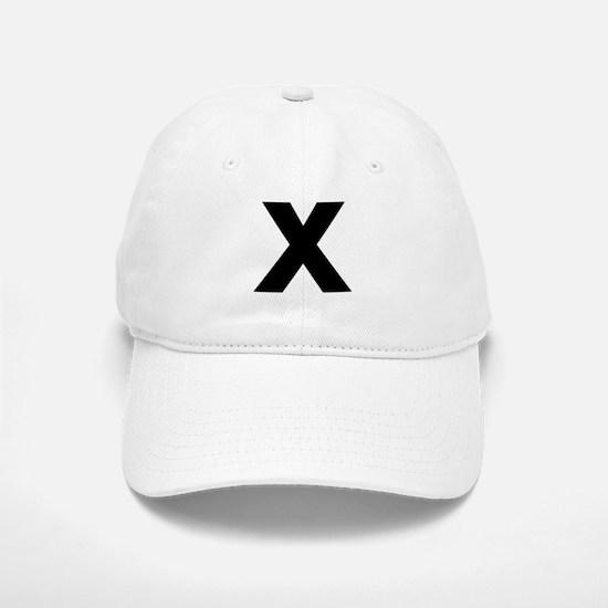 Letter X Baseball Baseball Cap