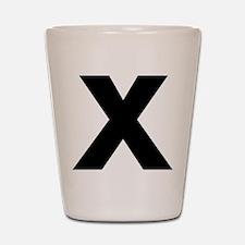 Letter X Shot Glass