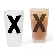Letter X Drinking Glass