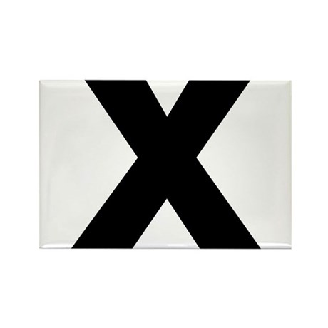 Letter X Rectangle Magnet