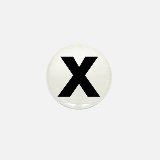 Letter X Mini Button