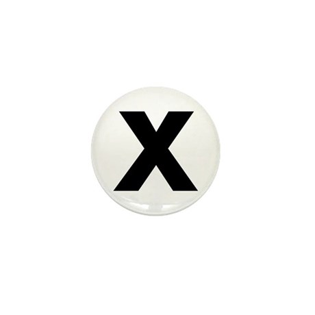 Letter X Mini Button (100 pack)