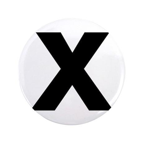 """Letter X 3.5"""" Button"""
