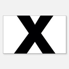 Letter X Decal