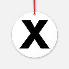 Letter X Ornament (Round)