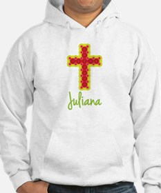 Juliana Bubble Cross Hoodie Sweatshirt