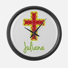 Juliana Bubble Cross Large Wall Clock