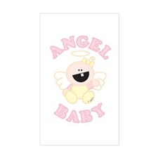 Angel Baby Rectangle Stickers