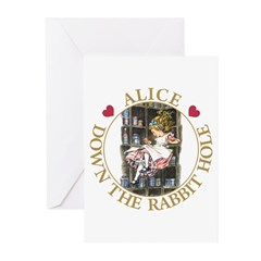 Alice Down the Rabbit Hole Greeting Cards (Pk of 2