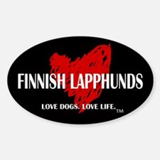 Love Finnish Lapphunds Sticker (Oval)