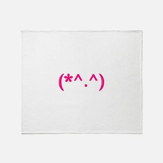 Cute emote Throw Blanket