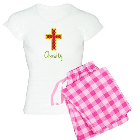Chasity Bubble Cross Women's Light Pajamas
