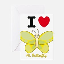 Hi Butterfly® Greeting Card