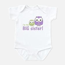 Big Sister Owl Purple/Green Infant Bodysuit