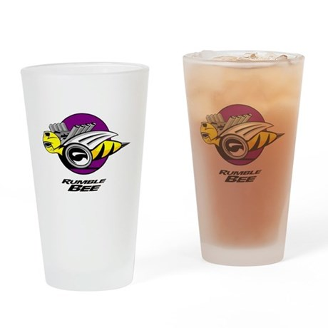 Rumble Bee design Drinking Glass