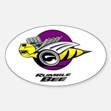 Rumble Bee design Sticker (Oval)
