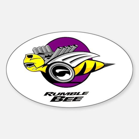 Rumble Bee design Sticker (Oval)