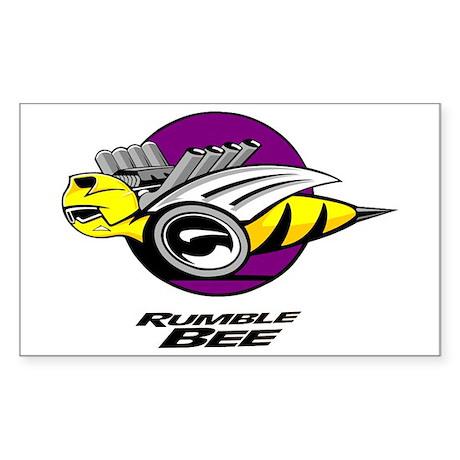 Rumble Bee design Sticker (Rectangle)