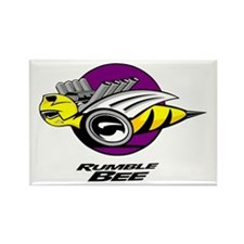 Rumble Bee design Rectangle Magnet
