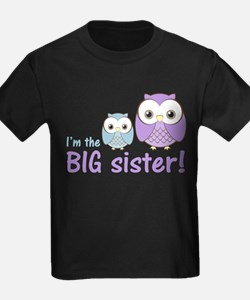 Big Sister Owl Purple/Blue T