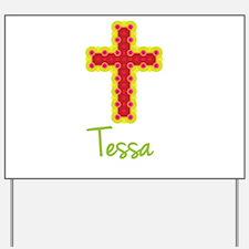Tessa Bubble Cross Yard Sign