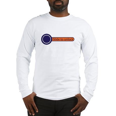 slide to unlock Long Sleeve T-Shirt