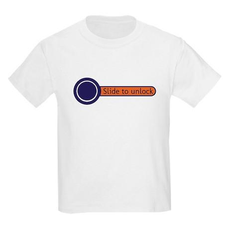 slide to unlock Kids Light T-Shirt