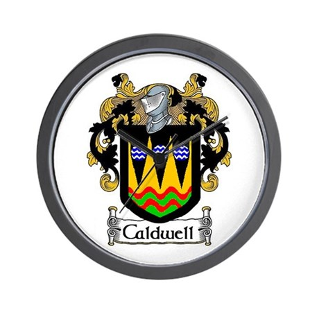 Caldwell Coat of Arms Wall Clock