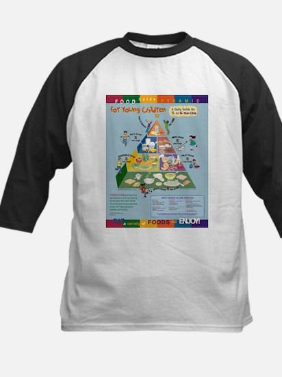 Food Guide Pyramid Kids Baseball Jersey