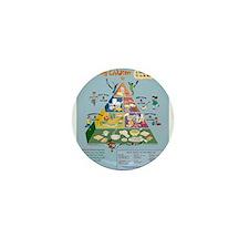 Food Guide Pyramid Mini Button