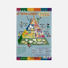 Food Guide Pyramid Rectangle Magnet