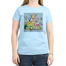 Food Guide Pyramid Women's Pink T-Shirt