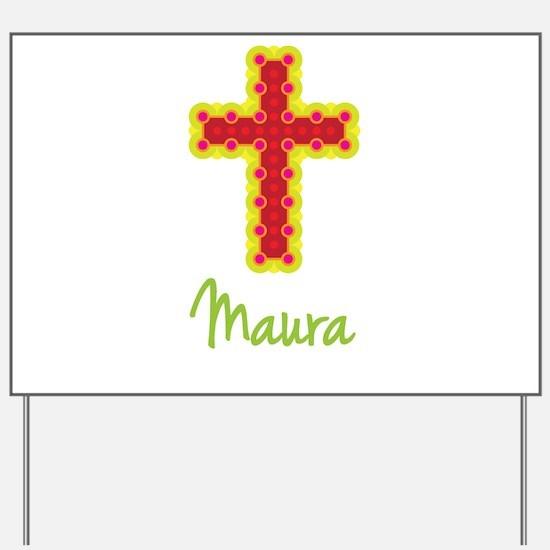 Maura Bubble Cross Yard Sign