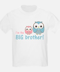 Big Brother Owl Blue/Pink T-Shirt