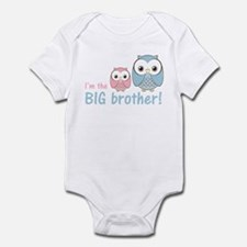 Big Brother Owl Blue/Pink Infant Bodysuit
