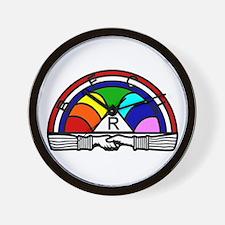 Order of the Rainbow Wall Clock