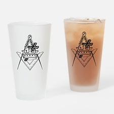 Knight Templar (black/white) Drinking Glass