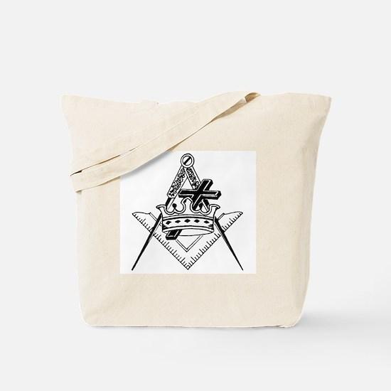 Knight Templar (black/white) Tote Bag