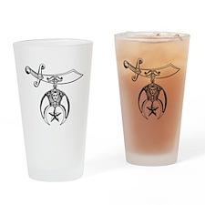 Shriners (black/white) Drinking Glass