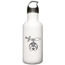 Shriners (black/white) Water Bottle
