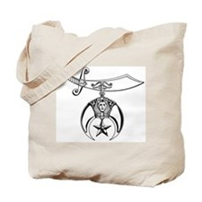 Shriners (black/white) Tote Bag