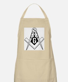 Square & Compasses (black/whi Apron