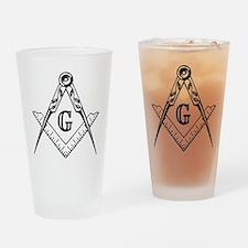 Master Mason (black/white) Drinking Glass