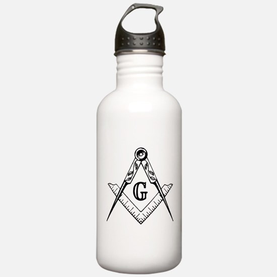 Master Mason (black/white) Water Bottle