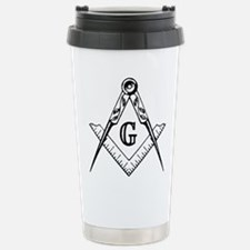 Master Mason (black/white) Travel Mug