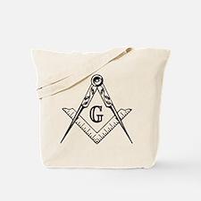 Master Mason (black/white) Tote Bag