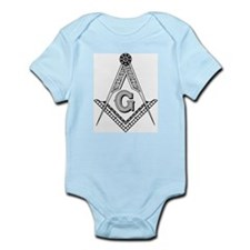 Square and Compasses (B/W) Infant Bodysuit