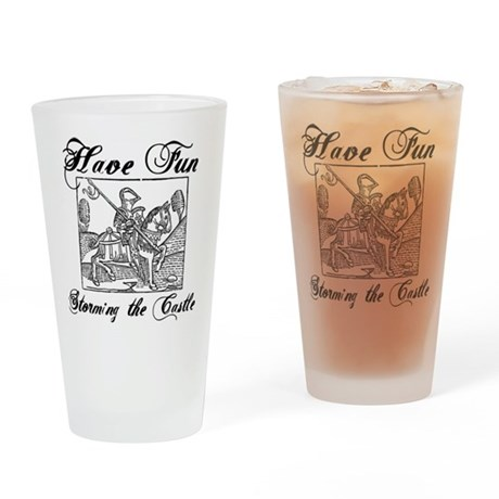 Storming the Castle Drinking Glass
