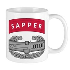 Combat Action Badge w Sapper Tab Mug